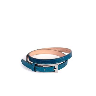 Ceinture fine Femme bleu océan